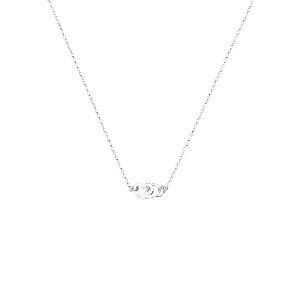 Elli Kette mit Anhänger »Herzen Liebe Verbunden 925 Sterling Silber«