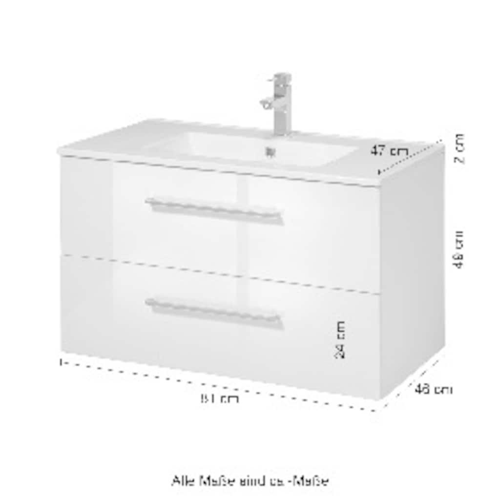 welltime Waschtisch »Palermo«, Premium Badmöbel in Breite 80 cm