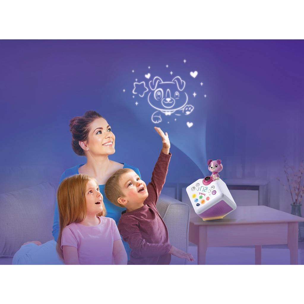 Vtech® Lernspielzeug »V-Story, die Hörspielbox blau«, mit Lichtprojektion und Sound