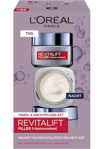 L'ORÉAL PARIS Gesichtspflege-Set »RevitaLift Filler HA Tag und Nacht«, (2 tlg.), enthält Hyaluronsäure kaufen