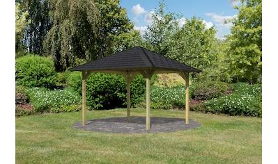 Karibu Pavillon »Cordoba«, (Set), BxTxH: 357x357x297 cm, mit schwarzen Dachschindeln kaufen