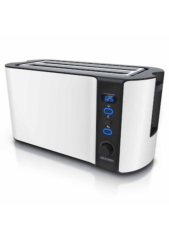 Arendo Toaster »Frukost Weiß«, 2 lange Schlitze, 1500 W, 1500W mit Display kaufen