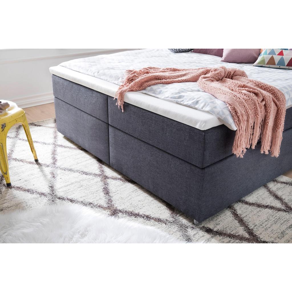 meise.möbel Boxspringbett, mit Topper und LED-Beleuchtung