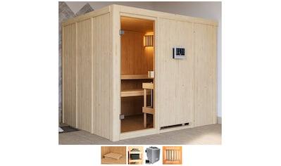 KARIBU Sauna »Nando«, 9 - kW - Bio - Ofen mit ext. Steuerung kaufen