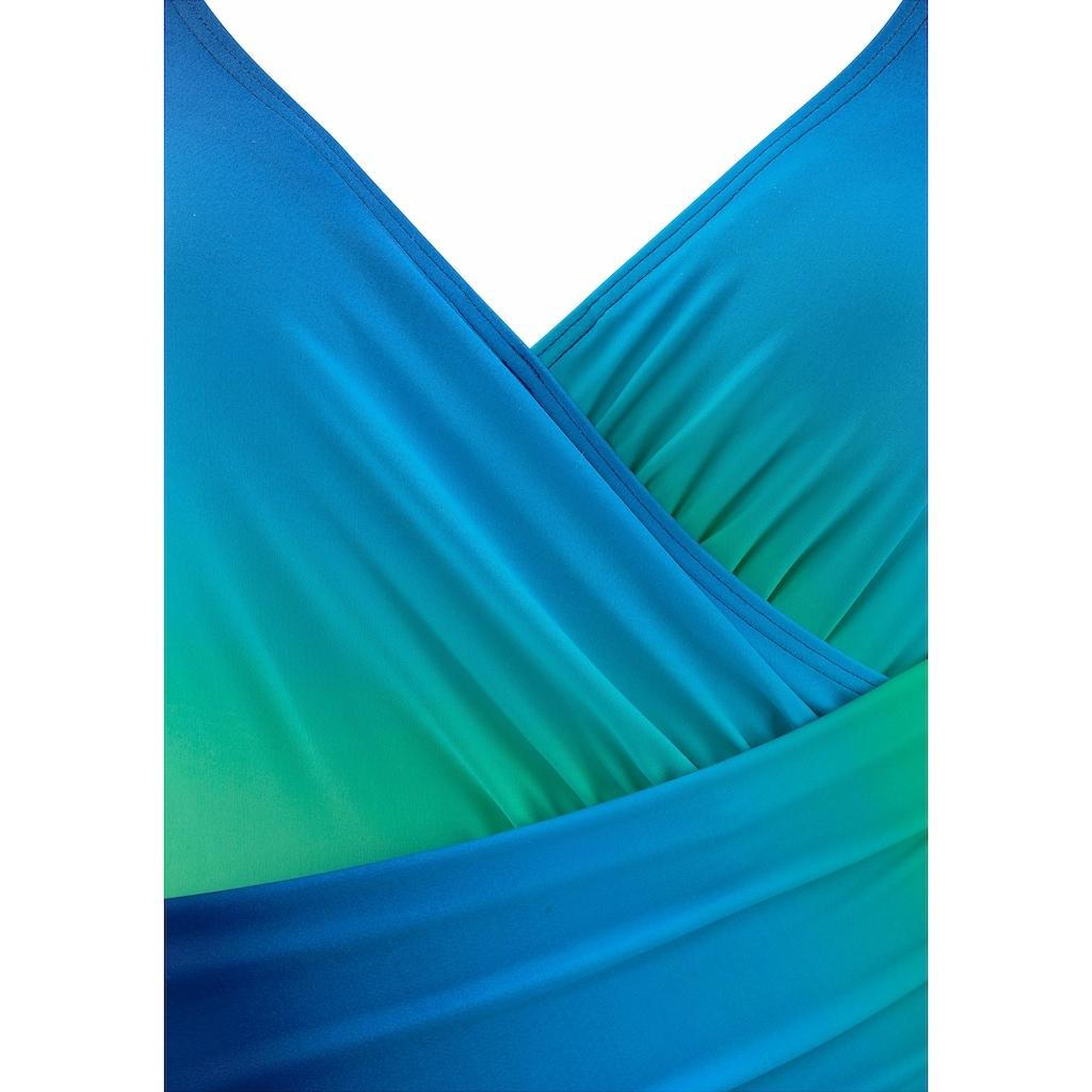 LASCANA Badeanzug, in Wickeloptik mit Shaping-Effekt