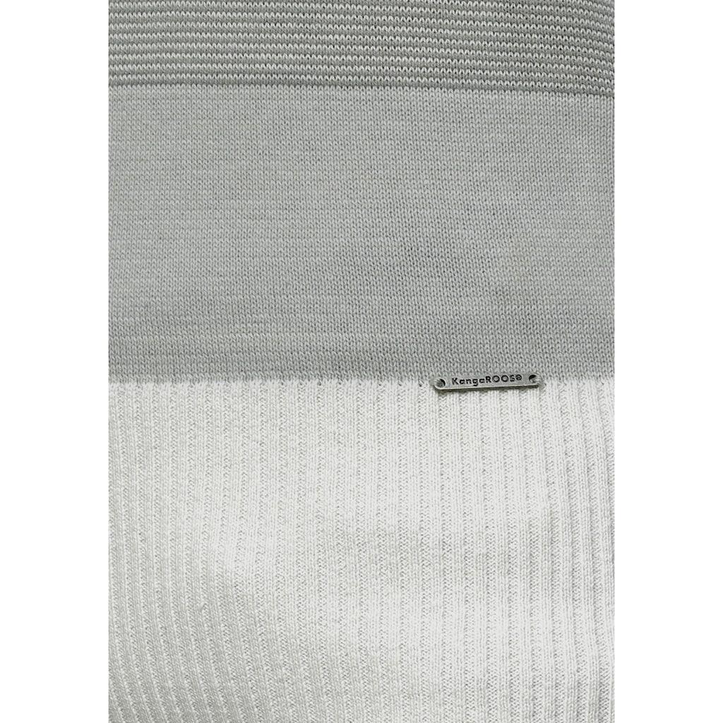 KangaROOS Rollkragenpullover, gestreift mit hohem Stehkragen