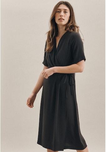 seidensticker Sommerkleid »Schwarze Rose«, Kurzarm V-Neck Uni kaufen