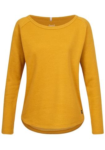SUPER.NATURAL Sweatshirt »W KNIT SWEATER«, atmungsaktiver Merino-Materialmix kaufen