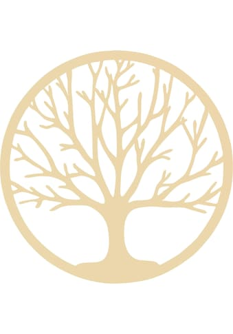 Wall-Art Wanddekoobjekt »Holzdeko Pappel Furnier - Baum des Lebens« kaufen
