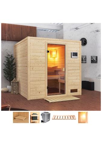 Karibu Sauna »Jacky«, 4,5-kW-Bio-Ofen mit ext. Steuerung kaufen