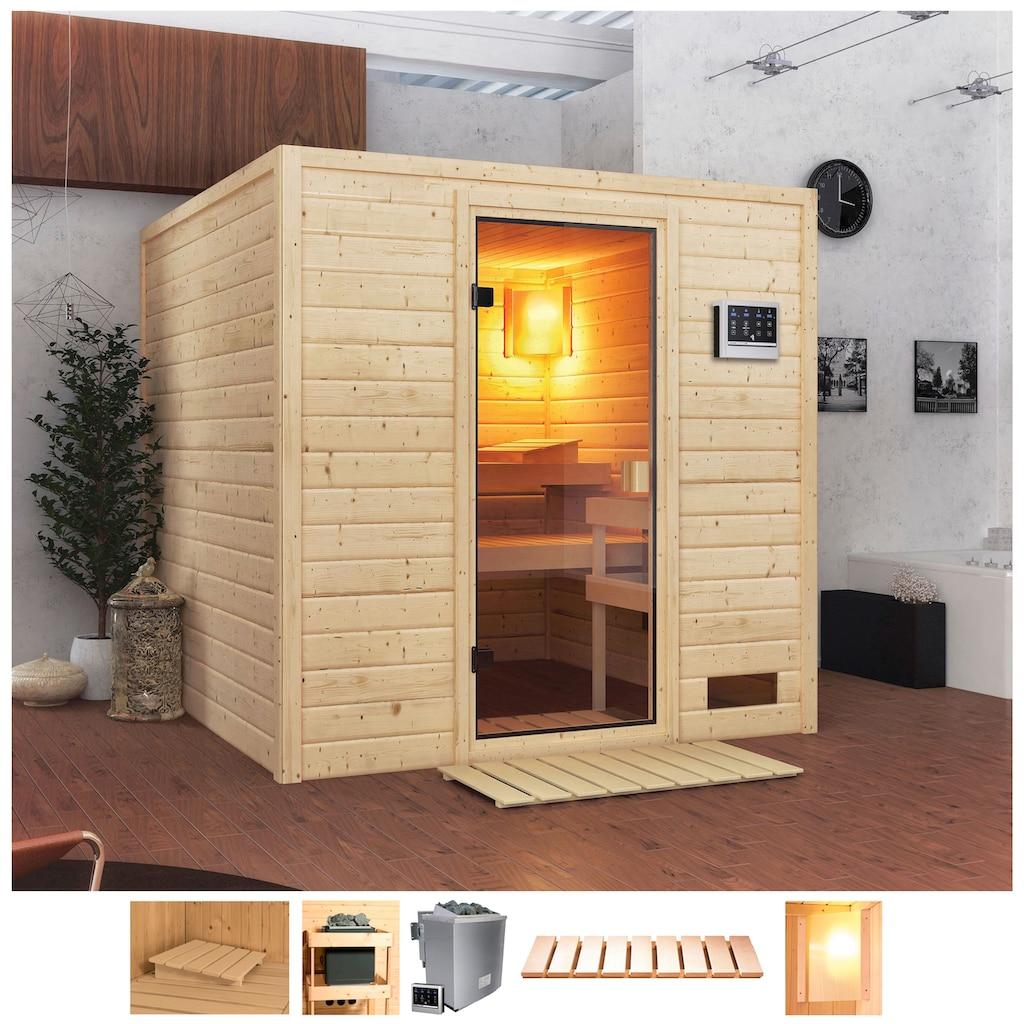 Karibu Sauna »Jacky«, 4,5-kW-Bio-Ofen mit ext. Steuerung