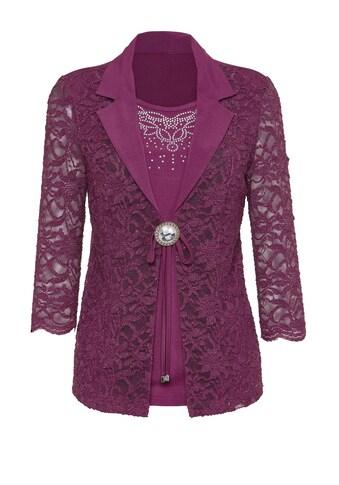 Lady Shirt mit feiner Spitze und Glitzer - Effekten im Vorderteil kaufen