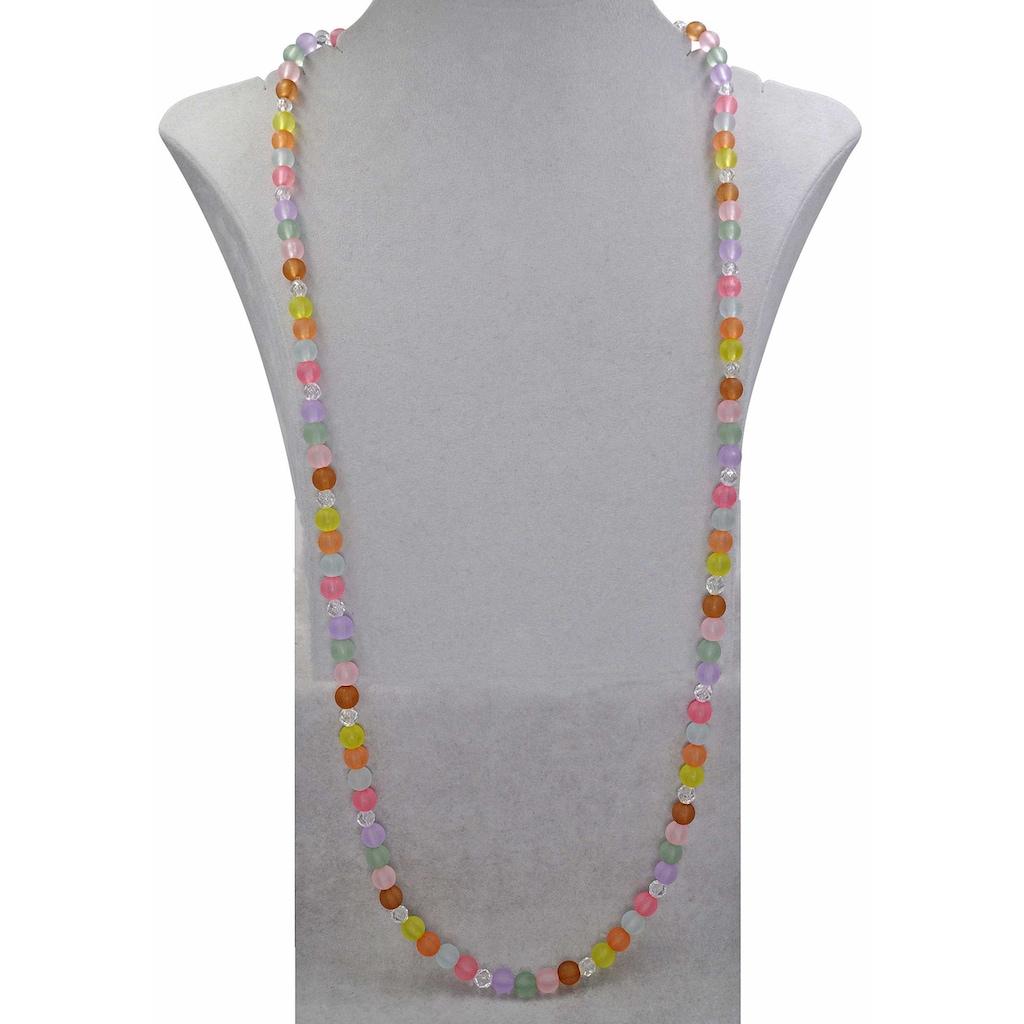 J.Jayz Lange Kette »Perlenkette, pastellfarben, bunt«, mit Kunststoffsteinen und -perlen