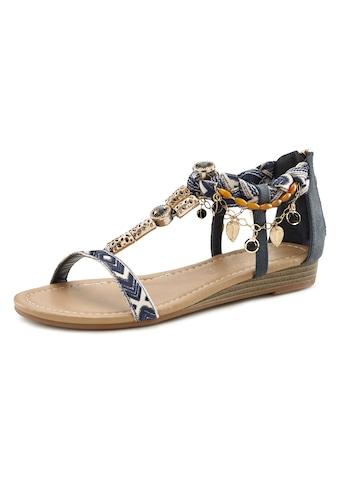 LASCANA Sandalette, mit kleinem Keilabsatz und mit modischer Verzierung kaufen