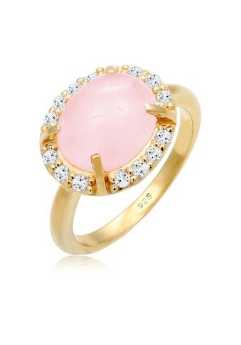 Elli Fingerring »Rose Quartz Topas Edelstein 925 Sterling Silber« kaufen