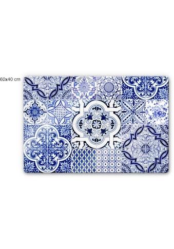 Wall-Art Herd-Abdeckplatte »Spritzschutz Küche Vintage Blau« kaufen