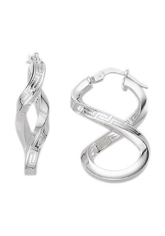 Firetti Paar Creolen »Unendlichkeitsschleife/Infinity mit Mäanderdesign«, poliert kaufen