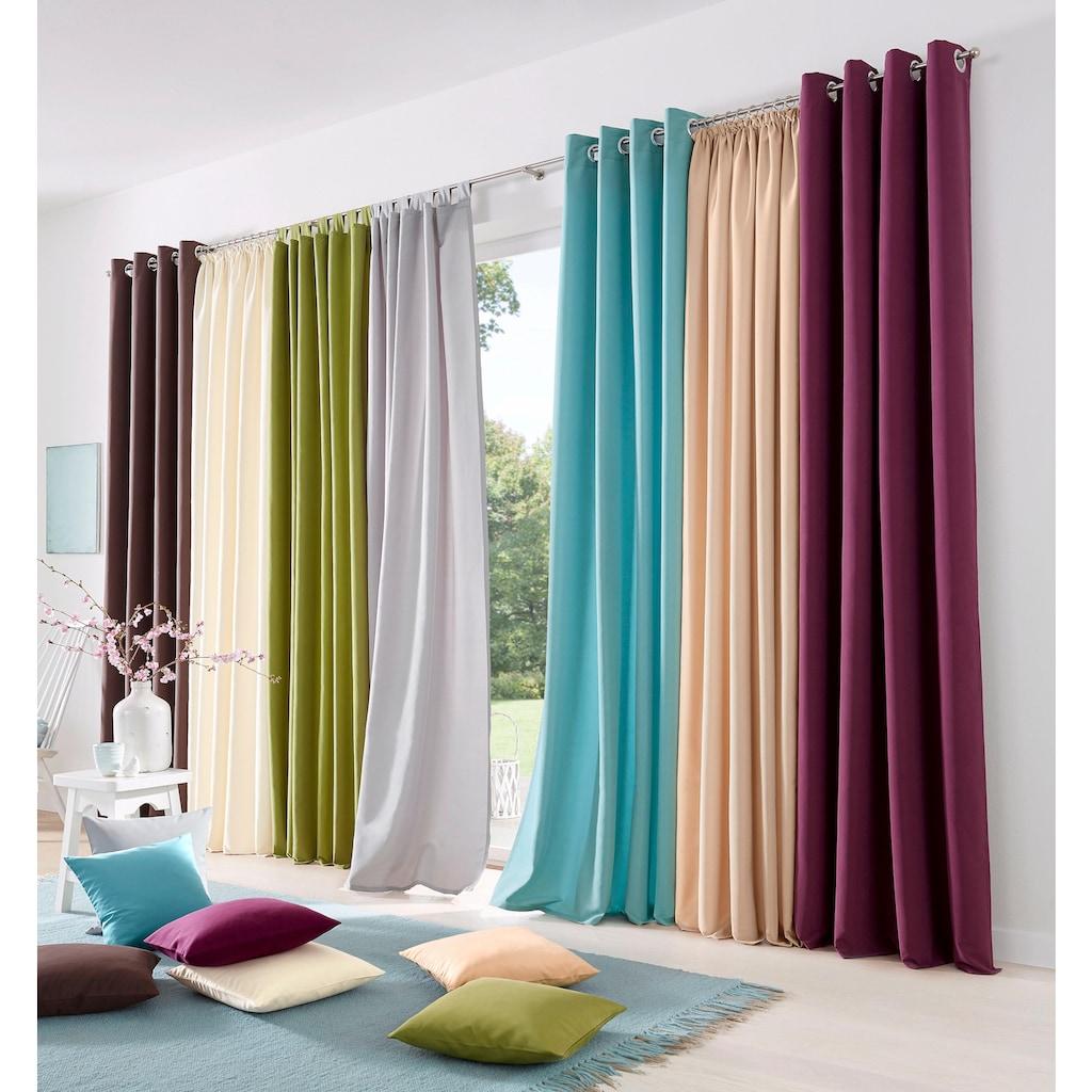 my home Vorhang »Raja«, Gardine, Fertiggardine, blickdicht