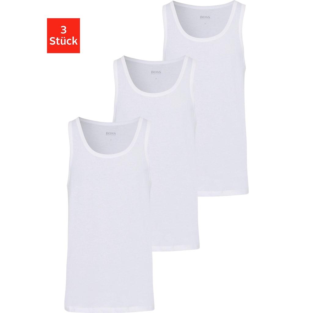Boss Unterhemd »Tank Top 3P CO«, (Packung, 3 St., 3er-Pack)