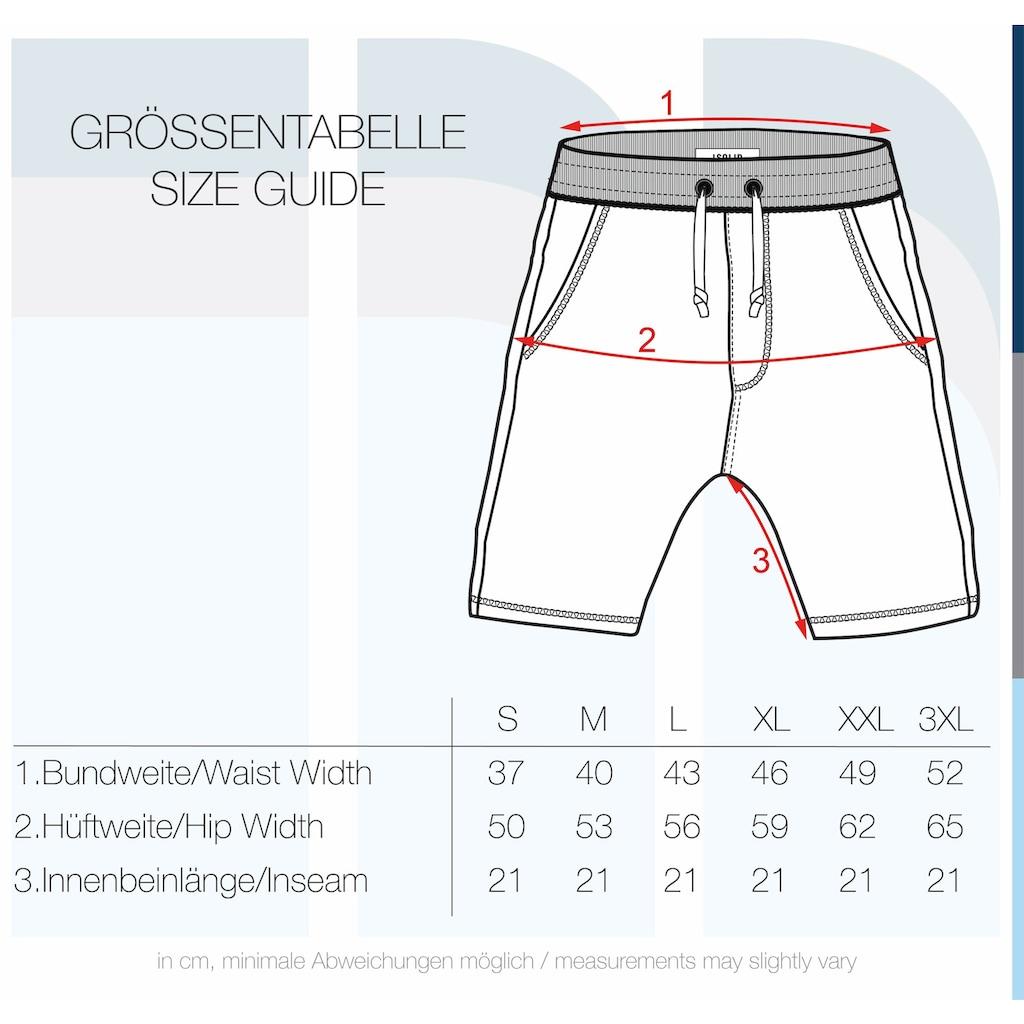 Solid Sweatshorts »Toljan«, kurze Hose mit Tunnelzug