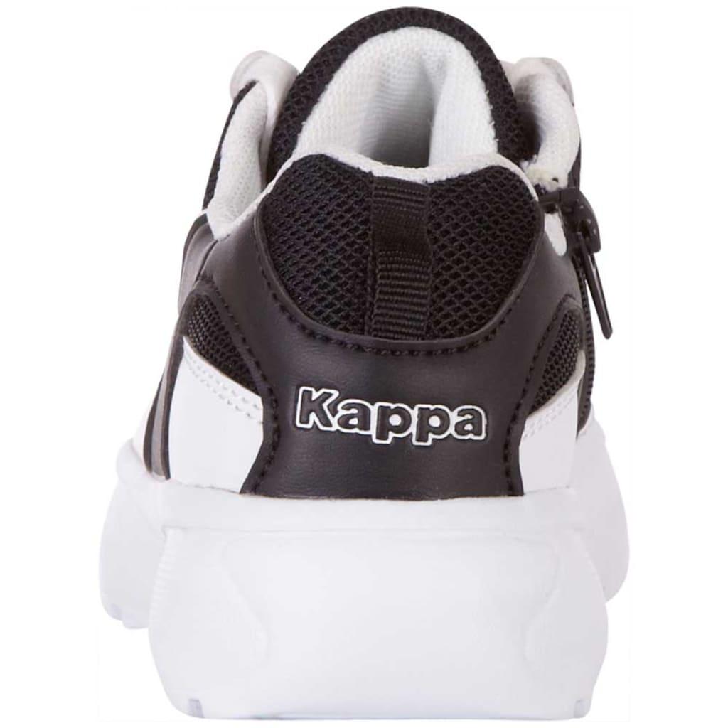 Kappa Plateausneaker »OVERTON KIDS«, mit praktischem Reißverschluss auf der Schuhinnenseite