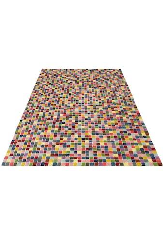 Wollteppich, »Marat«, My HOME, rechteckig, Höhe 25 mm, handgetuftet kaufen