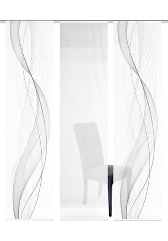 Vision S Schiebegardine »3ER SET HEIGHTS«, HxB: 260x60, Schiebevorhang 3er Set Digitaldruck kaufen