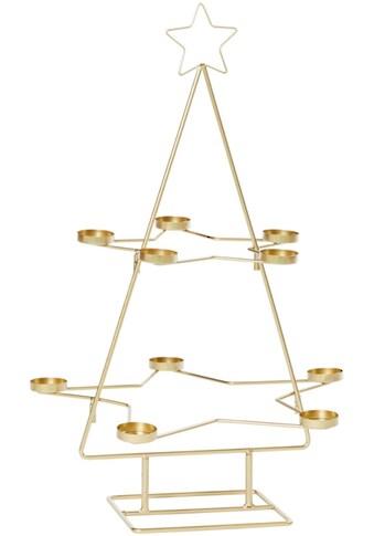 Teelichthalter »Weihnachtsbaum«, 10-flammig, Höhe 68 cm kaufen