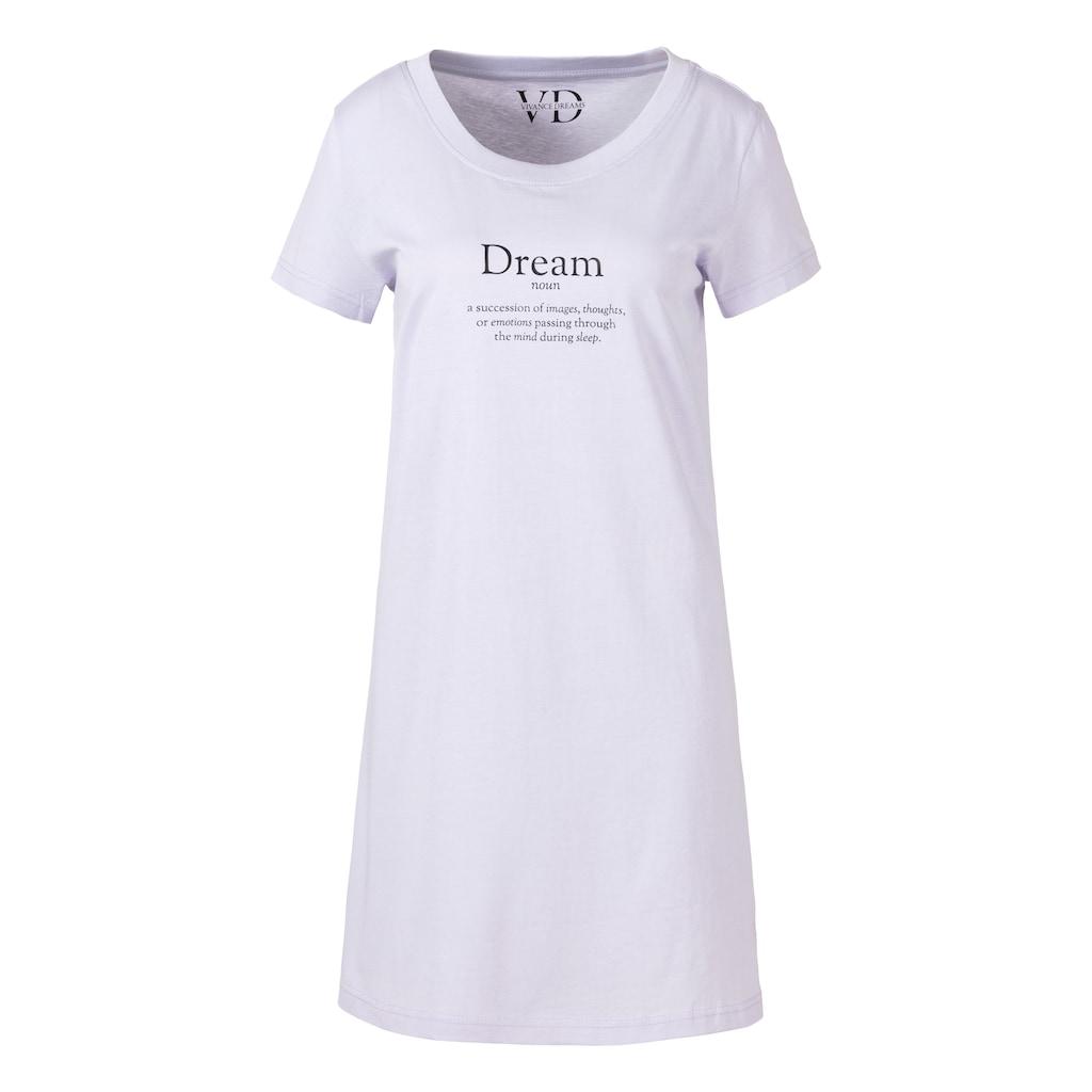 Vivance Dreams Sleepshirt, mit Statementdruck