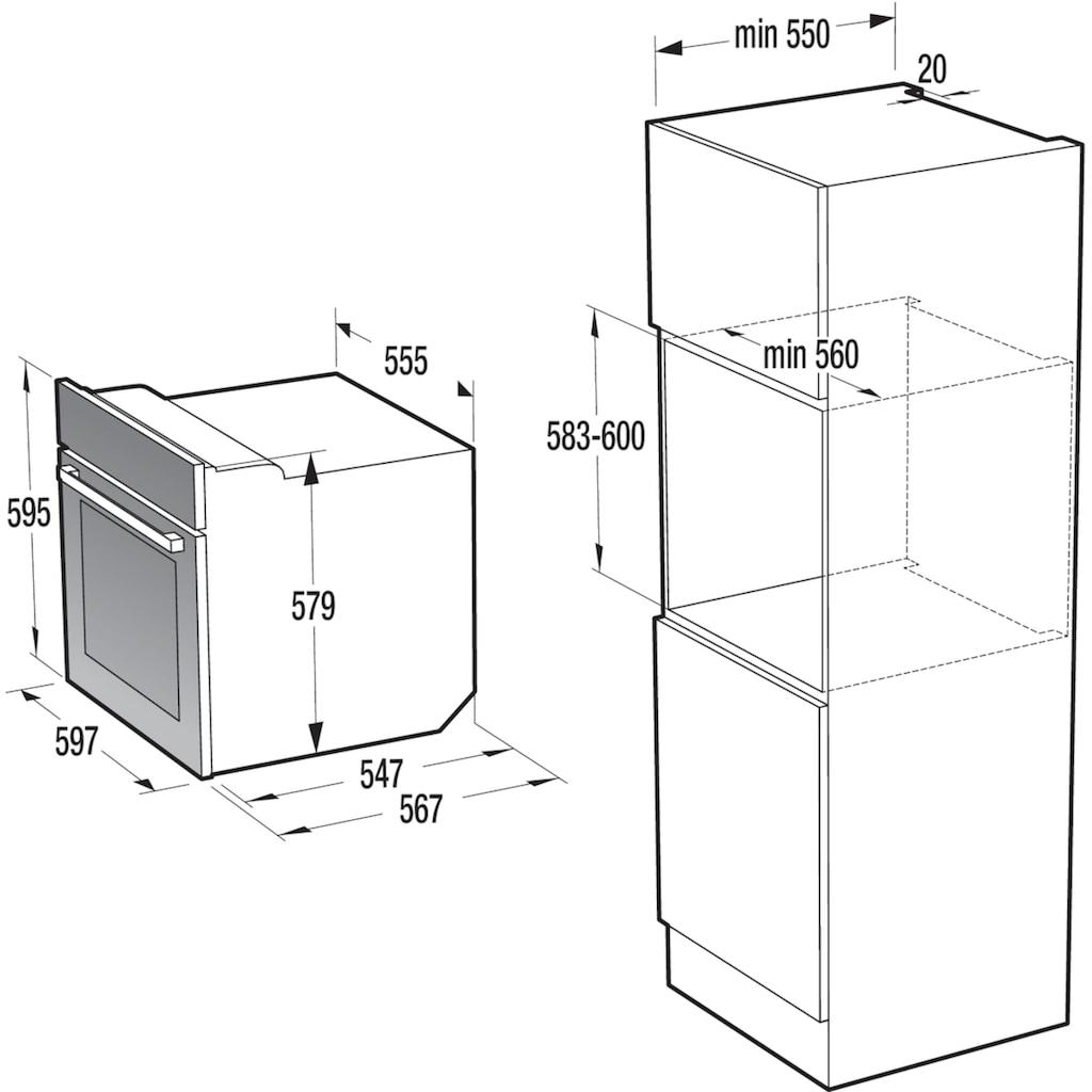 GORENJE Backofen-Set »PACIFIC Set Basic 2020«, BO735XOT, mit 1-fach-Teleskopauszug