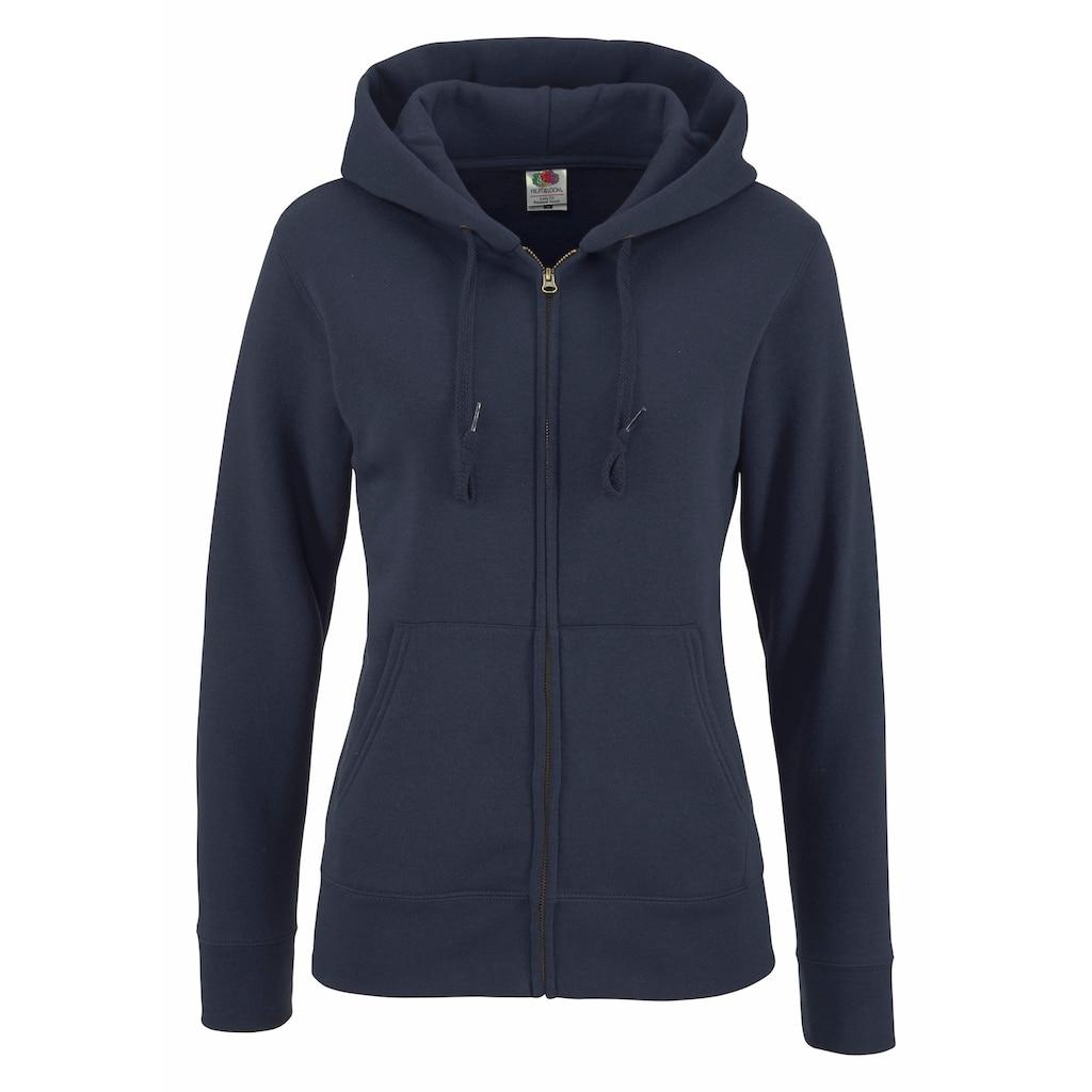Fruit of the Loom Kapuzensweatshirt »Lady-Fit Premium hooded Sweat Jacket«
