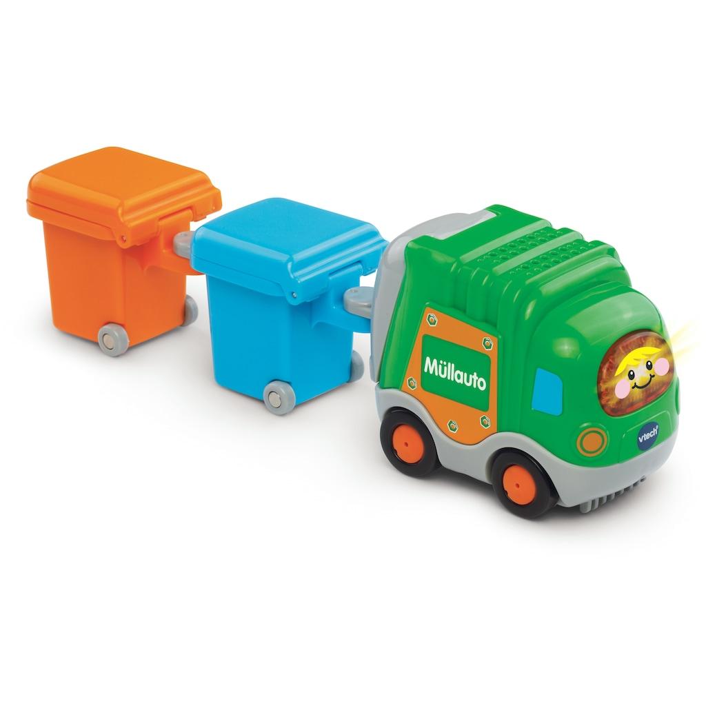 "Vtech® Spielzeug-Müllwagen ""Tut Tut Baby Flitzer Müllauto & 2 Mülltonnen"""