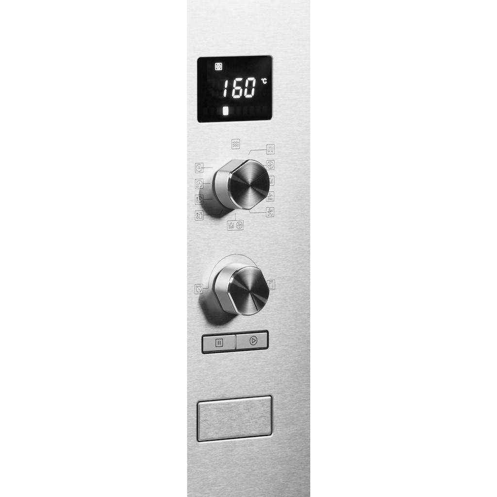 Hanseatic Einbau-Mikrowelle »AC034B8S-S0EE«, Grill-Umluft-Mikrowelle, 1000 W