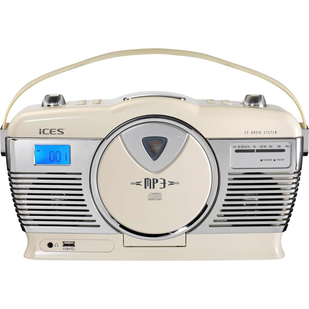 Lenco Retro-Radio »ISCD-33«, (FM-Tuner)