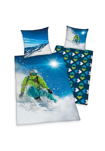 Herding Wendebettwäsche »Skifahrer, Baumwoll-Renforcé« kaufen