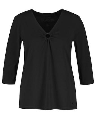 Samoon 3/4 - Arm - Shirt »3/4 Arm Shirt mit Ringeinsatz« kaufen