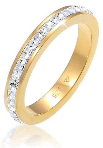 Elli Premium Fingerring »Bandring Geo Shape, 0608492619«, mit Kristallen kaufen