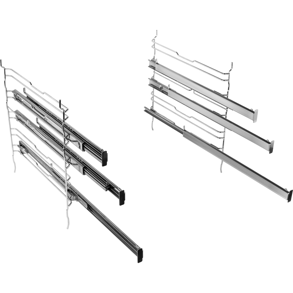 BAUKNECHT Induktions Herd-Set »HEKO Flamenco Flexi«, HIR4 EI8VS3 PT R, mit Backauszug, (Set), Backofentür mit softClose