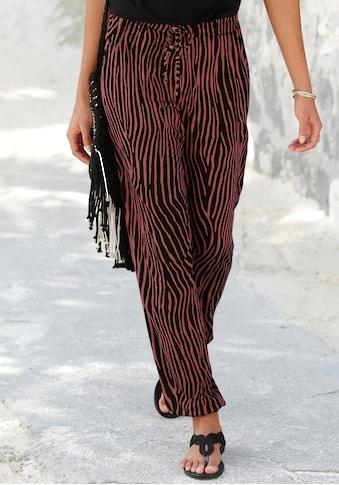 LASCANA Strandhose, mit Zebradruck kaufen