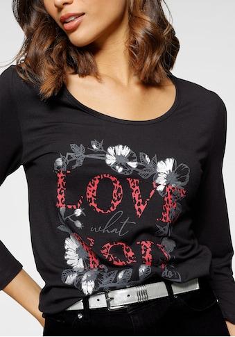 Laura Scott Rundhalsshirt »LOVE«, mit Frontprint - NEUE KOLLEKTION kaufen