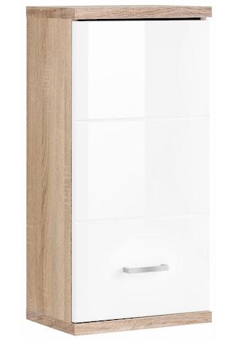 Homexperts Hängeschrank »Nusa«, Breite 35 cm, Badezimmerschrank mit Metallgriff, welchselbarer Türanschlag, MDF-Front in Hochglanz-Optik kaufen