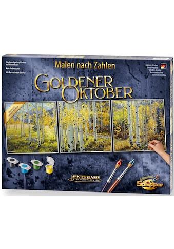 Schipper Malen nach Zahlen »Meisterklasse Triptychon - Goldener Oktober«, Made in Germany kaufen