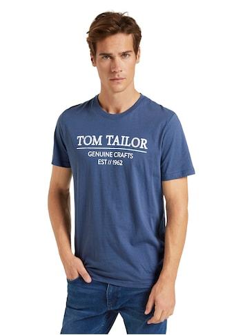 TOM TAILOR Rundhalsshirt, mit großem Logofrontprint kaufen