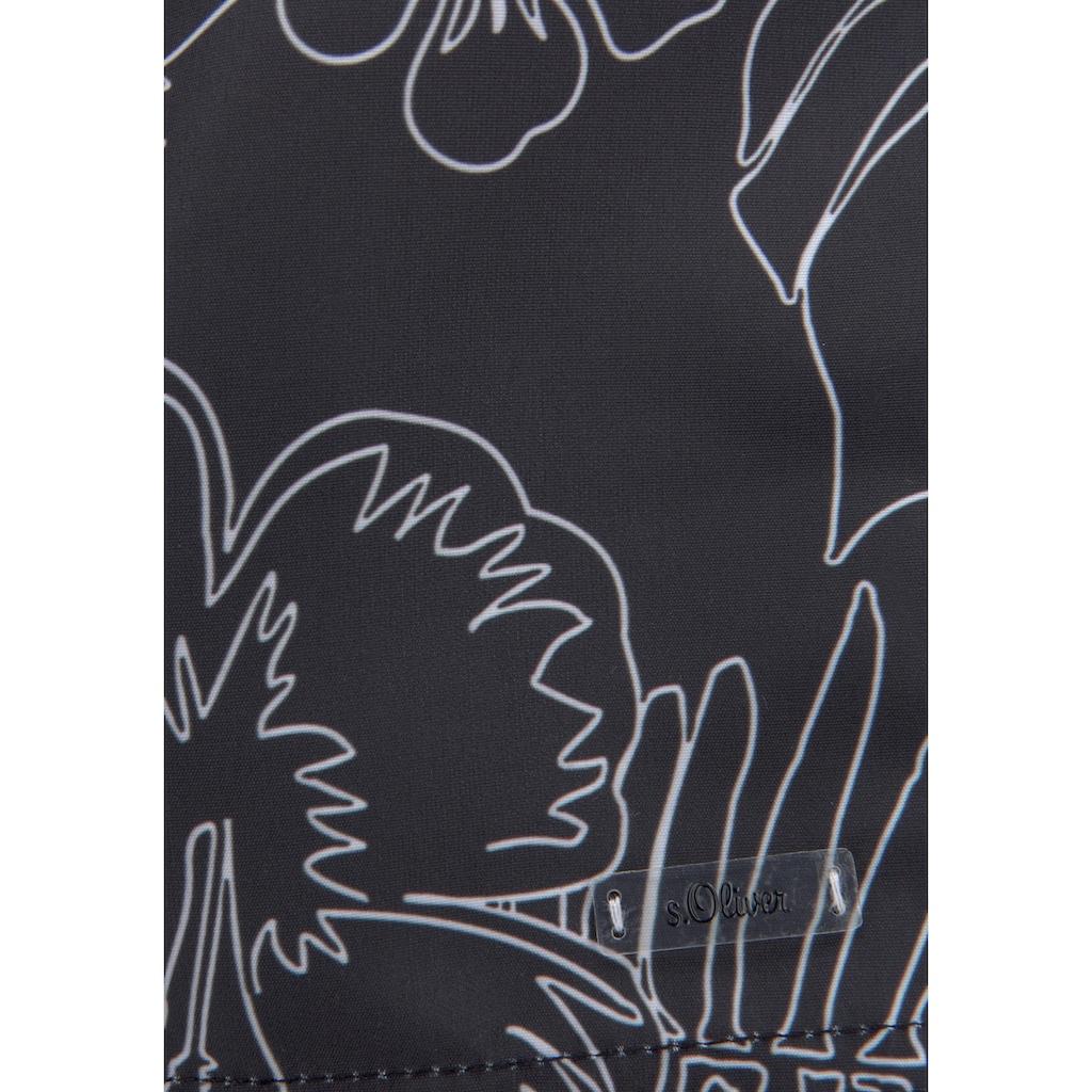 s.Oliver Badeshorts, mit modernem Print