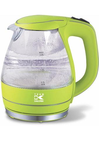 Team Kalorik Wasserkocher, Glas JK1022AG, 1,5 Liter, 2200 Watt kaufen