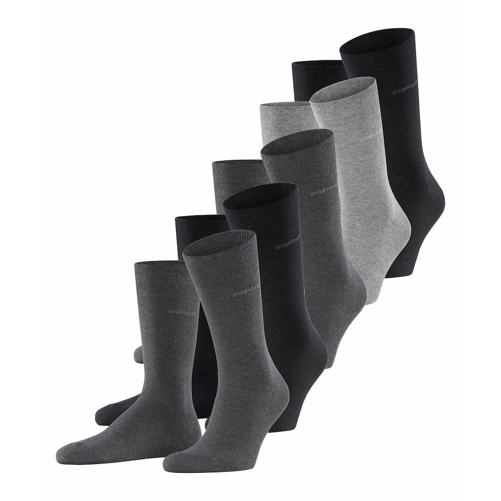 Esprit Socken »Solid-Mix 5-Pack«, (5 Paar), mit hohem Baumwollanteil