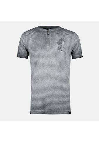LERROS Henleyshirt »Striped Serafino«, in verwaschener Streifenoptik kaufen