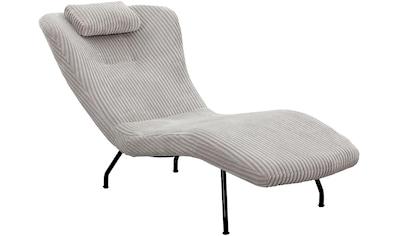 SalesFever Relaxsessel, mit modernem Cord Bezug, gemütliche Relaxliege kaufen