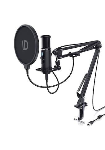 LIAM&DAAN USB Podcast Mikrofon Set mit Mikrofonarm, Spinne & Popschutz »Kondensatormikrofon Set« kaufen