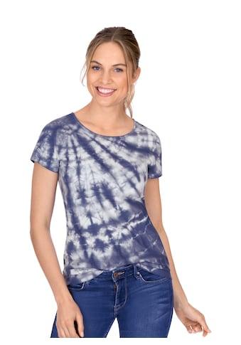 Trigema Rundhalsshirt, mit modischem Batik-Druck kaufen